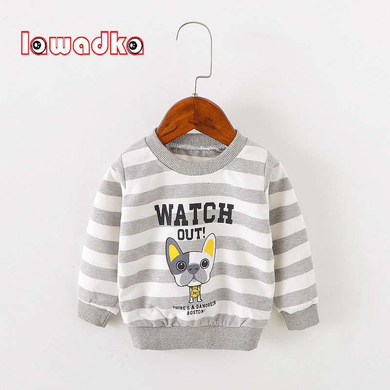 все цены на Lawadka Striped Baby Girls Sweatshirt Kids Long Sleeve Tops Cotton 2018 Brand Spring Clothes Boys T shirts Children Clothing
