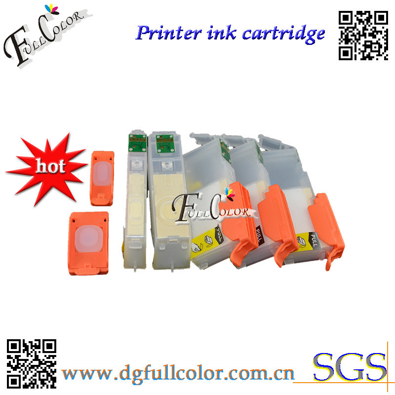 Free Shipping Refillable Ink Cartridge 450 451 with ARC Chip For MG6340 <font><b>MG7140</b></font> Printer Cartridge 6 Color image