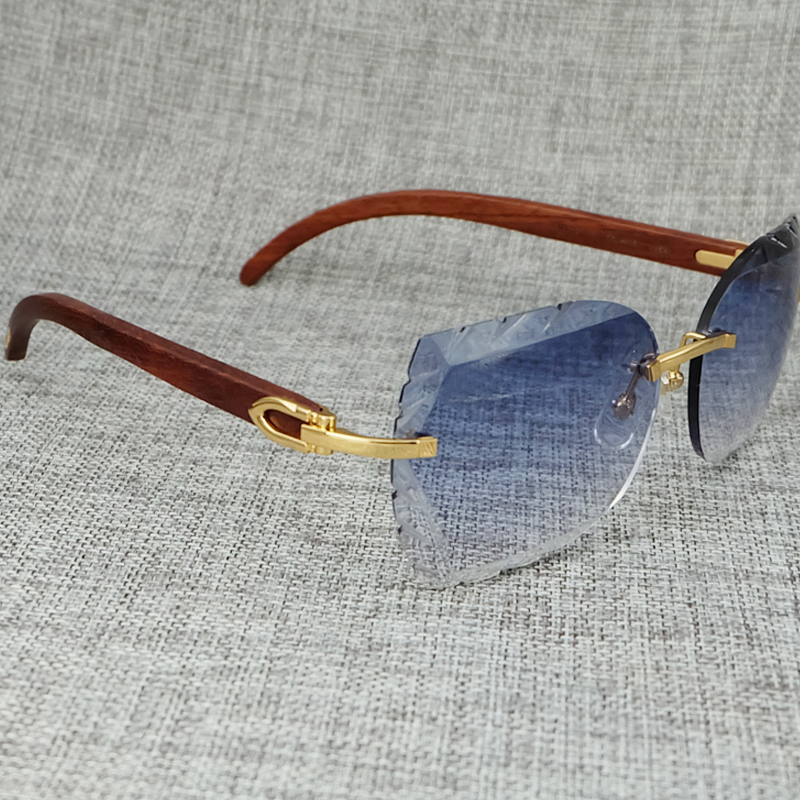 Bois nouveau élégant luxe dame soleil verre hommes décoration Designer en gros lunettes de soleil élégant Carter lunettes loisirs fête lunettes