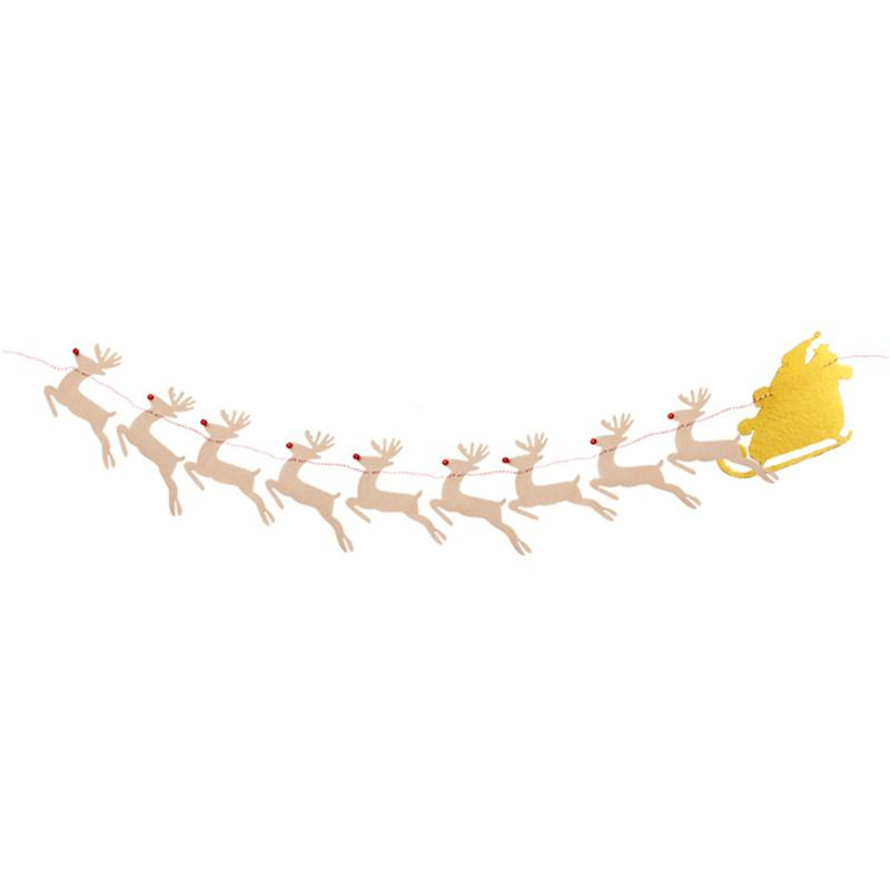 Clever Cute Non-woven Christmas Elk Sleigh Flag Creative Garland Banner Birthday Party Room Decoration Supplies Selling Well All Over The World Wedding & Anniversary Bands