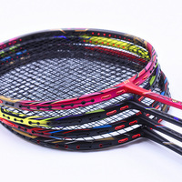 4U racket professional offensive badminton rackets T700 carbon with string 4 color badminton Racquet 24 32 LBS