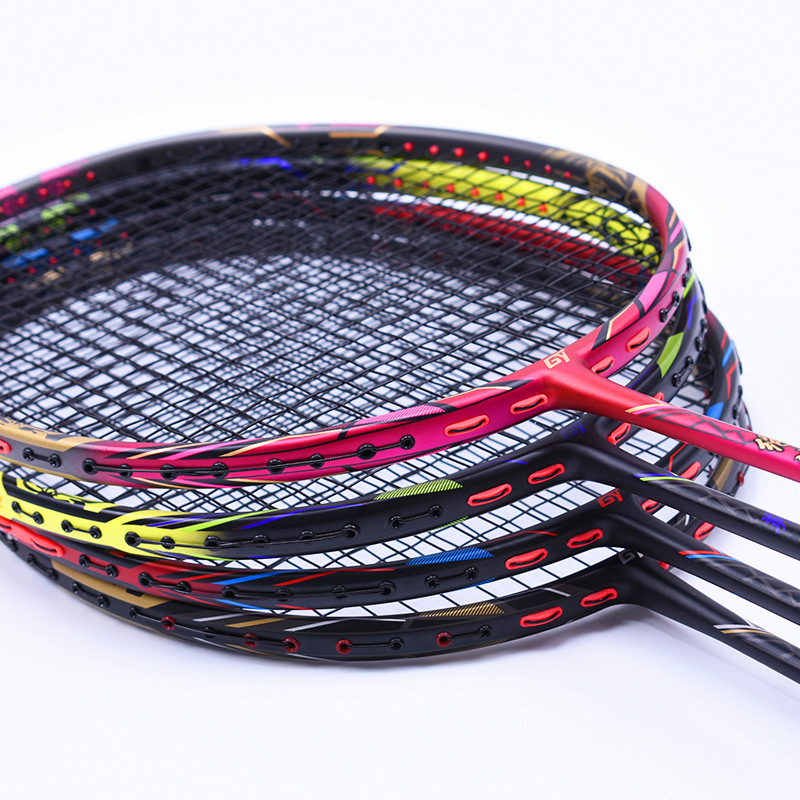 4U racket professional offensive badminton rackets T700 carbon with string 4 color badminton Racquet 24-32 LBS4U racket professional offensive badminton rackets T700 carbon with string 4 color badminton Racquet 24-32 LBS