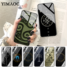 YIMAOC The Lord of Rings Well Printed Glass Case for Huawei P10 lite P20 Pro P30 P Smart honor 7A 8X 9 10 Y6 Mate 20