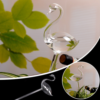 Flamingo Glass Watering Vase Terrarium Container Home Supply Gift Jardin Garden Decor riego por goteo Drop shipping header civic eg