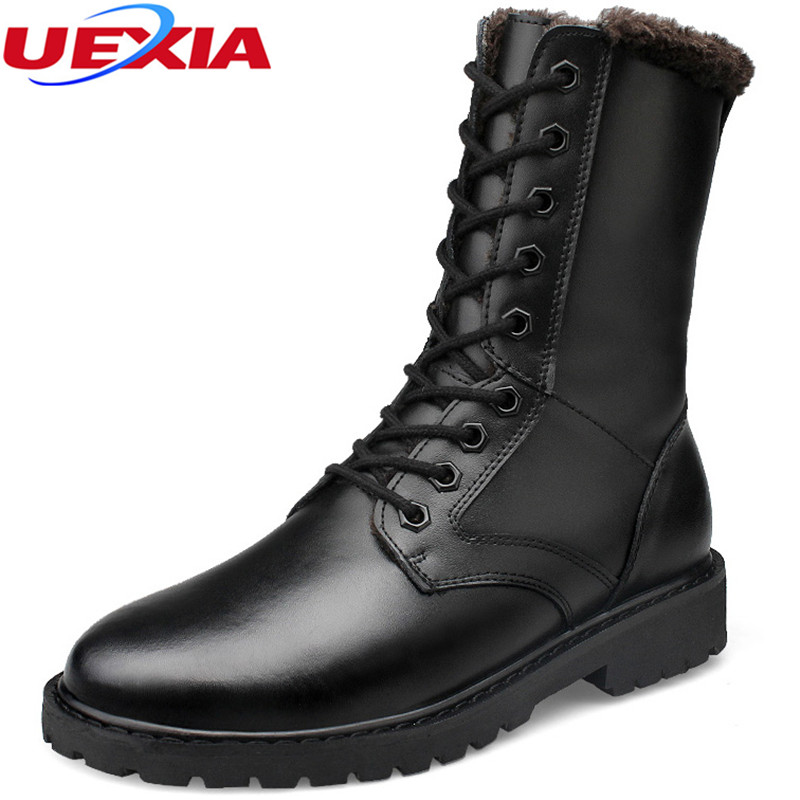Mens Shoes Warm Fur Work Ankle Martin Boots Men Casual Shoes Male Leather Oxford Zapatos Winter Snow Boots Super Plus Size 37-52  plush casual suede shoes boots mens flat with winter comfortable warm men travel shoes patchwork male zapatos hombre sg083