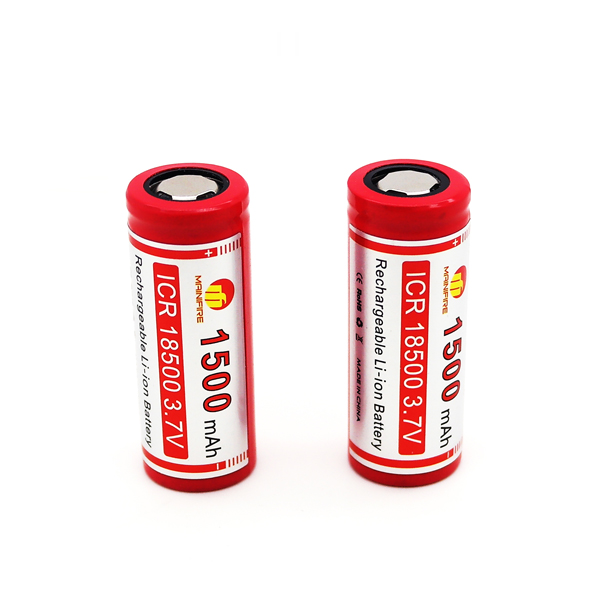 100% Original mainifire <font><b>ICR</b></font> <font><b>18500</b></font> 1500mah 3.7V Li-ion <font><b>battery</b></font> <font><b>18500</b></font> <font><b>battery</b></font> with flat top for ecig(1 pc) image
