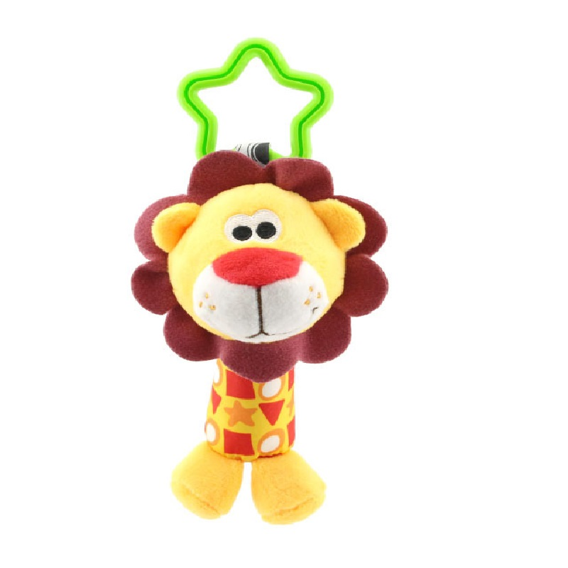 Baby Car Crib Hanging Toys Kids Newborn Plush Duck Deer Dog Lion Animal Infant Rattles Hand Bell Appease Toy Christmas Gifts