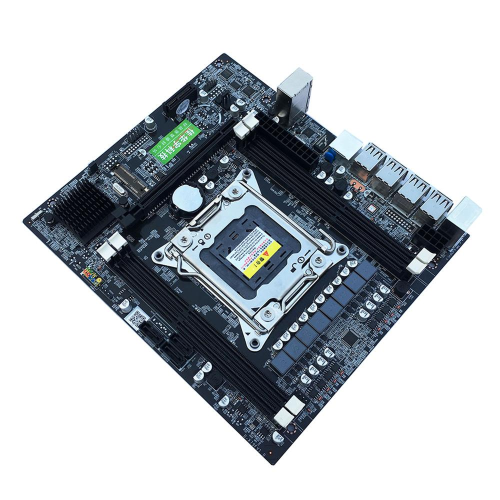 X79 E5 Desktop Computer Mainboard 2011Pin 4 Channel RECC Gaming Desktop Motherboard CPU Platform Support Octa