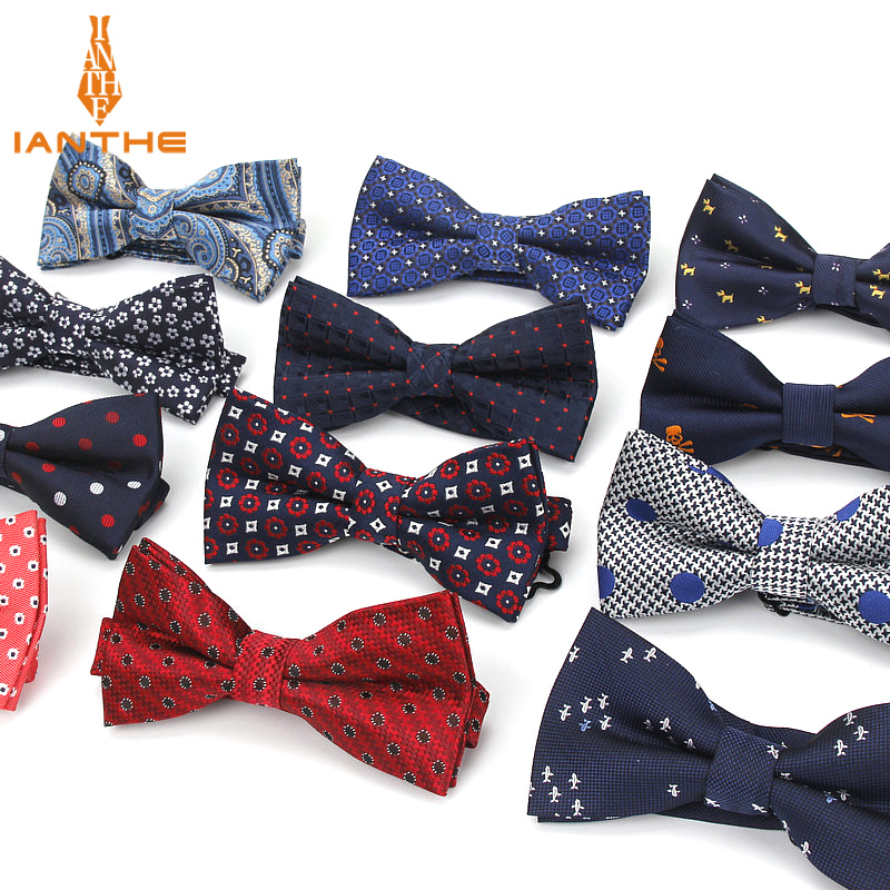 Men's Bow Tie Paisley Bowtie Business Wedding Bowknot Dot Classic Stripe Black Bow Ties For Groom Party Accessories Butterfly