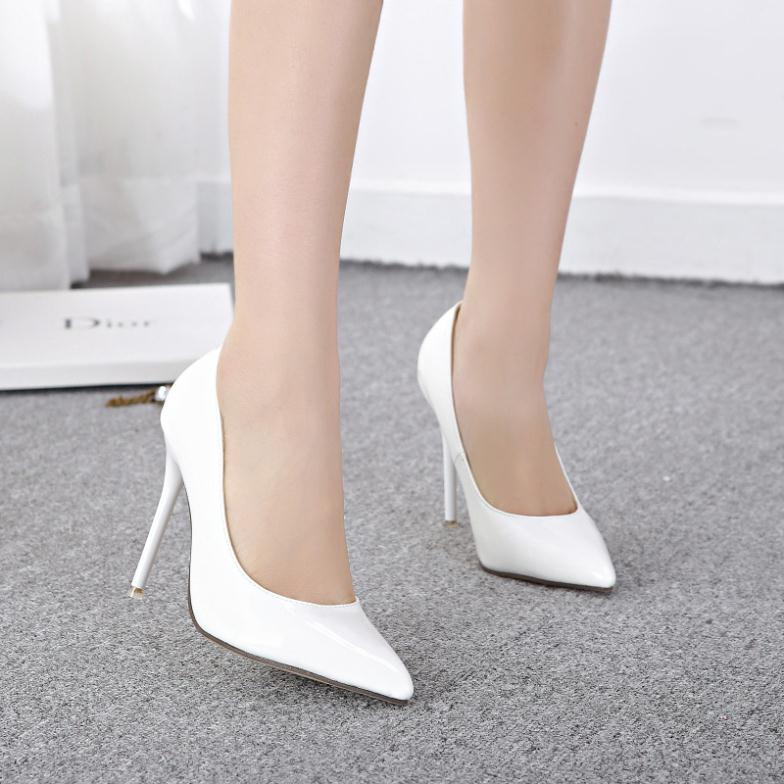 2ad88892681 2014 New Sexy Women Bride White Low Heel Shoes Wedding Pointed Toe Womens  Pump Ladies Party Nude Shoes High Heels