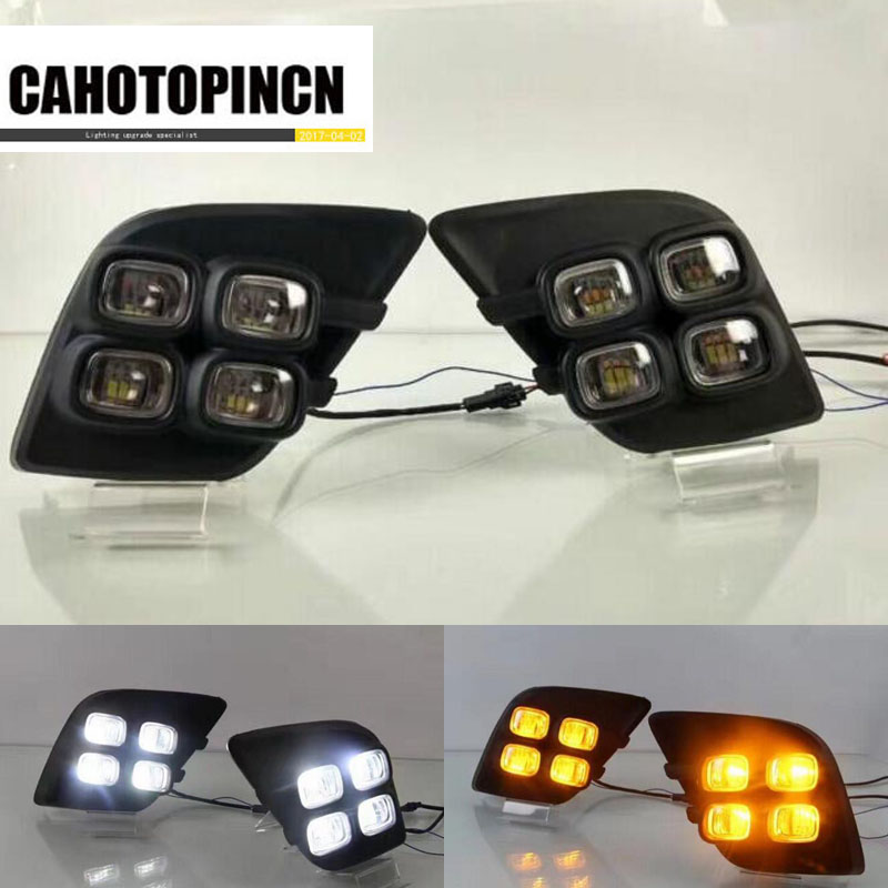 Turning Signal Relay and Waterproof 12V Car DRL LED Daytime Running Light Daylight fog lamp For
