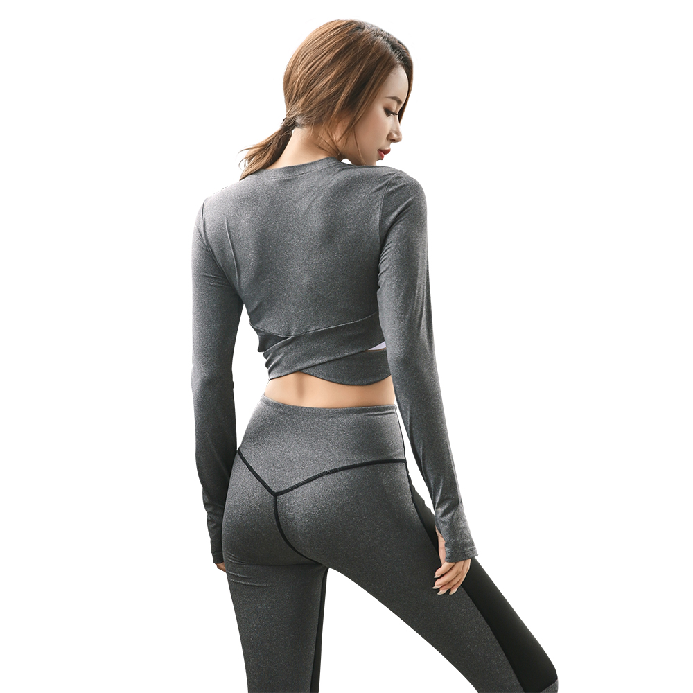 Ladies Sport Put on Swimsuit For Health Yoga Sportswear Clothes Feminine Fitness center Operating Tights Exercise Garments Two Items Leggings Units