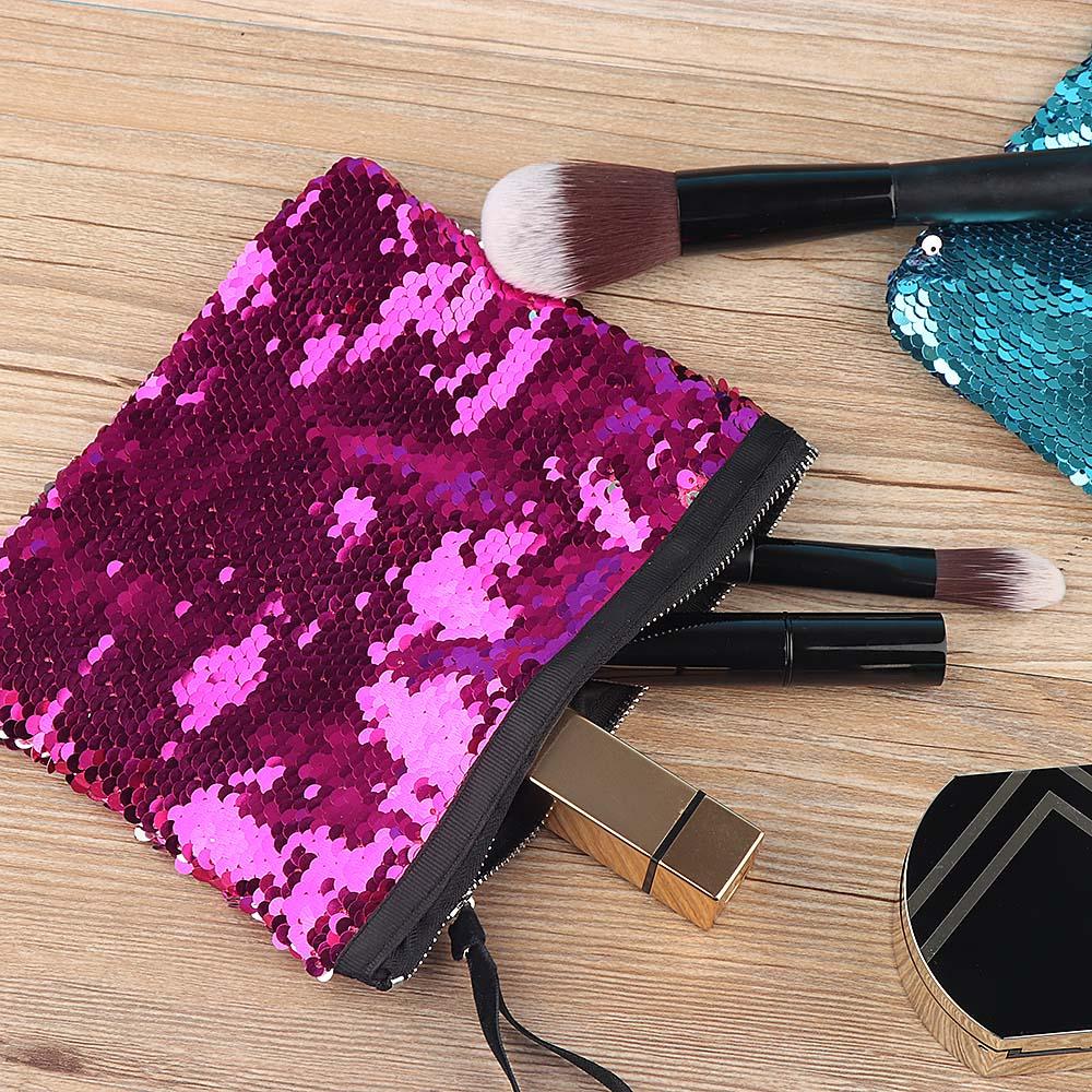 1PC Women Purse Pencil Bag DIY Sequins Handbag Mermaid Bag ...