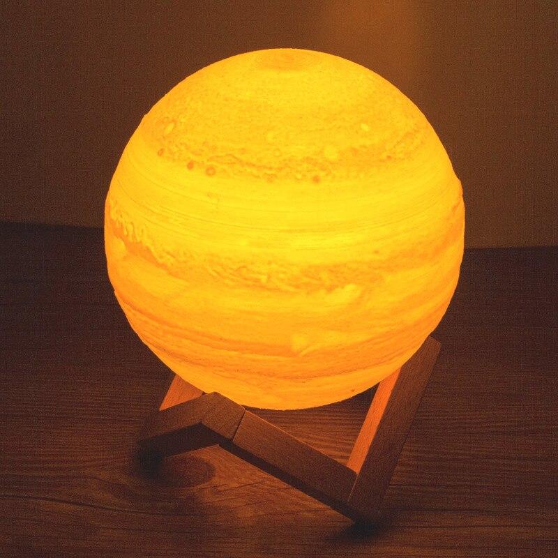 USB Aufladbare 3D Druck Jupiter Mond Luminaria Lampe tisch schreibtisch traum Nachtlicht Touch Schlafzimmer 2 Farbe Decor lampe Kreative