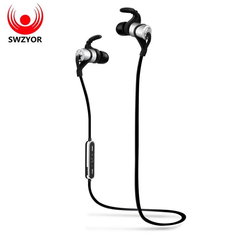bilder für SWZYOR D9 Sport Drahtloser Bluetooth Kopfhörer V4.1 anti-schweiß Metall Headset Ohrhörer Kopfhörer mit Mic In-ohr für huawei xiaomi