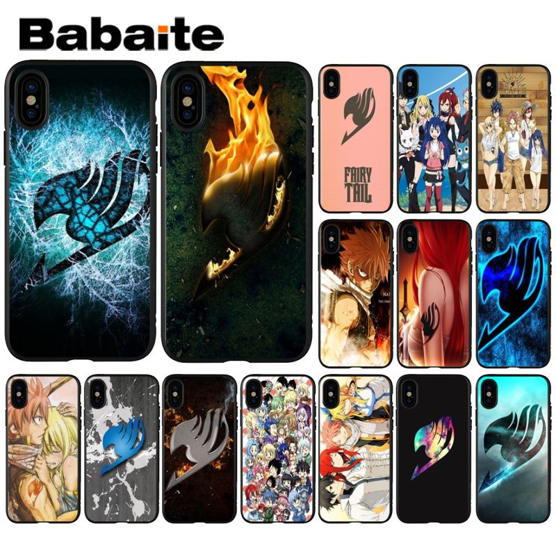 Babaite Anime Manga Fairy Tail <font><b>logo</b></font> TPU Soft Silicone Phone <font><b>Case</b></font> Cover for <font><b>iPhone</b></font> 8 7 6 <font><b>6S</b></font> Plus 5 5S SE XR X XS MAX Coque Shell image