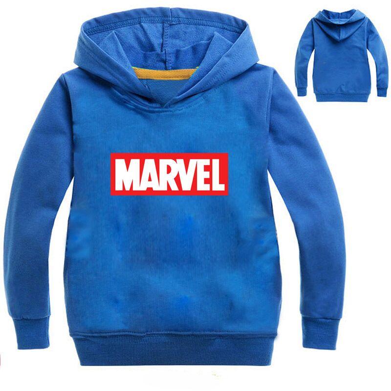 Sweater Marvel Girls Boys Kids Cartoon Print Tees T-Shirt Comics-Top Long-Sleeve Chidlren