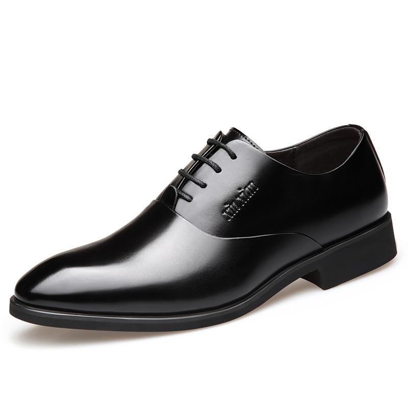 Chaussures Expédition Black Lyc7 Derby Oxfords Hommes Formelle Lyc7 Baisse De Bureau Misalwa Élégant D'affaires Travail Plat Robe brown Pour OtRqH1wH