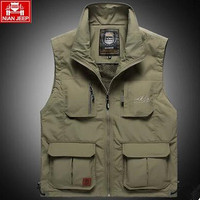 The classic 2018 high quality JEEP vest detachable leisure Many pocket zipper photography vest men casual director coat
