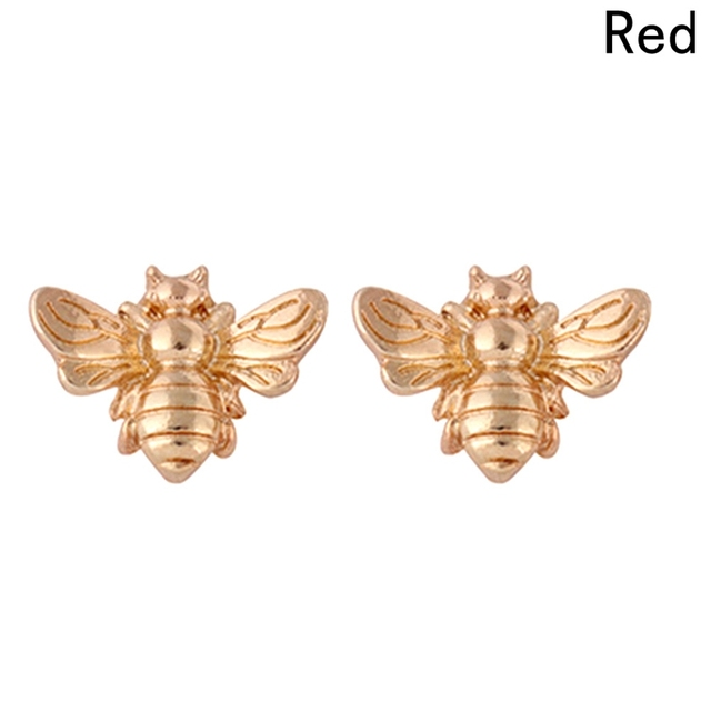 d5385d293 1Pair Cute Silver/Gold Color Honey Bee Earrings Tiny Fashion Stud Earrings  Insect Fly Bird Honey Cute Creative Bee Stud Earrings-in Stud Earrings from  ...