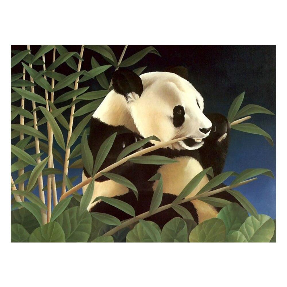 Lukisan Embroiderywall Decor Berlian Bordir Rumah Karpet Panda 180 X 250 Ungu Imitasi Disisipkan Penuh Cross Stitch Fantasy H65