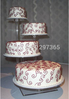 wedding decoration/4 Tier Beautiful High Clear Detachable Cheap Acrylic wedding cake stand