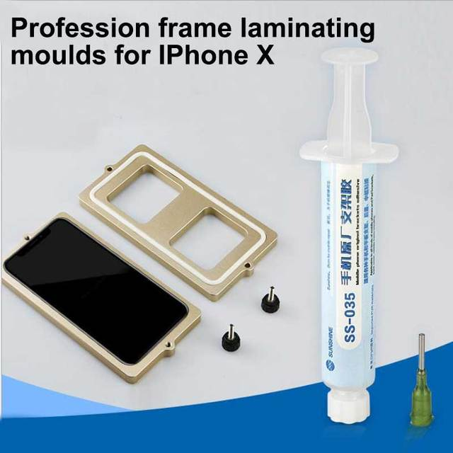 Profession Frame mould for iphone X XS XSMAX XR frame laminating moulds glass frame cold glue holding mold SS 037