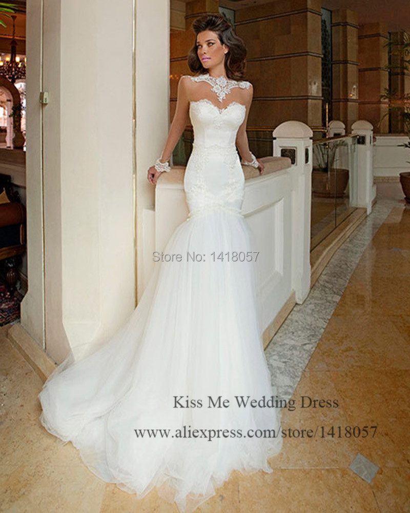 Aliexpress.com : Buy Sexy Berta Wedding Dresses Mermaid Long ...