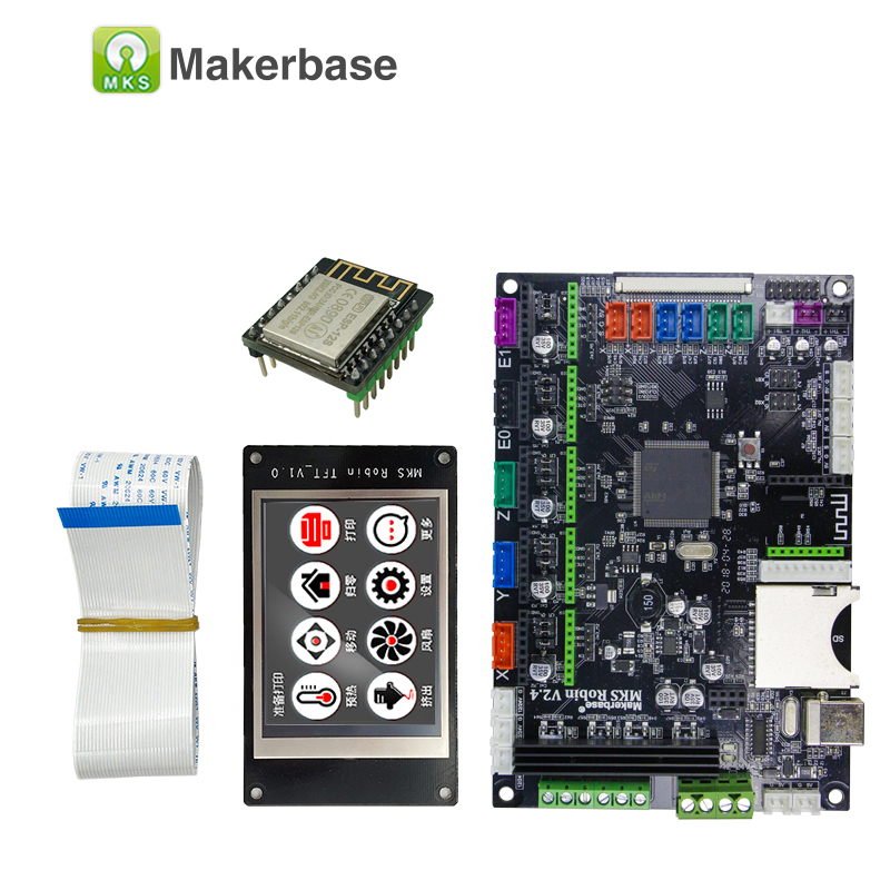 MKS Robin integrated circuit mainboard Robin STM32 controller mother board with TFT display 3d printer diy starter kit control