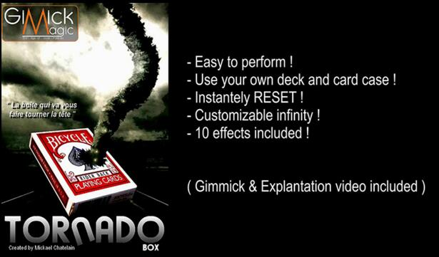 цена Free shipping TORNADO BOX by Mickael Chatelain (Gimmick+online instruct) Card Magic Trick,Illusion,Close up magic,street,Fun