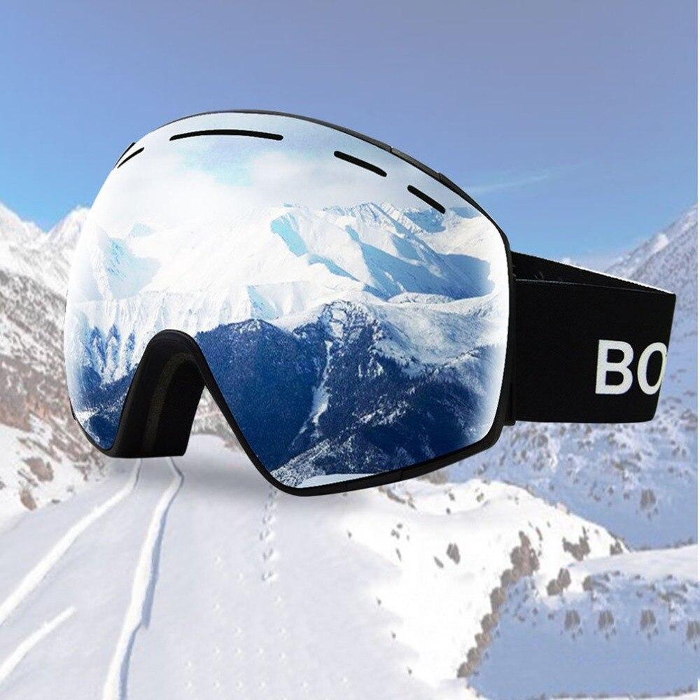 Ski Lunettes Hommes Femmes Snowboard Lunettes pour Ski Coupe-Vent De Filtration UV Protection Lunettes de Ski de Neige Anti-brouillard Ski Masque