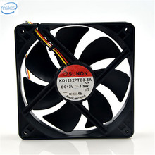 DHL Free Original KD1212PTB3-6A DC 12V 1.9W 0.16A 12025 120*120*25mm 2400RPM 3 Wires Computer Blower Double Ball Cooling Fan
