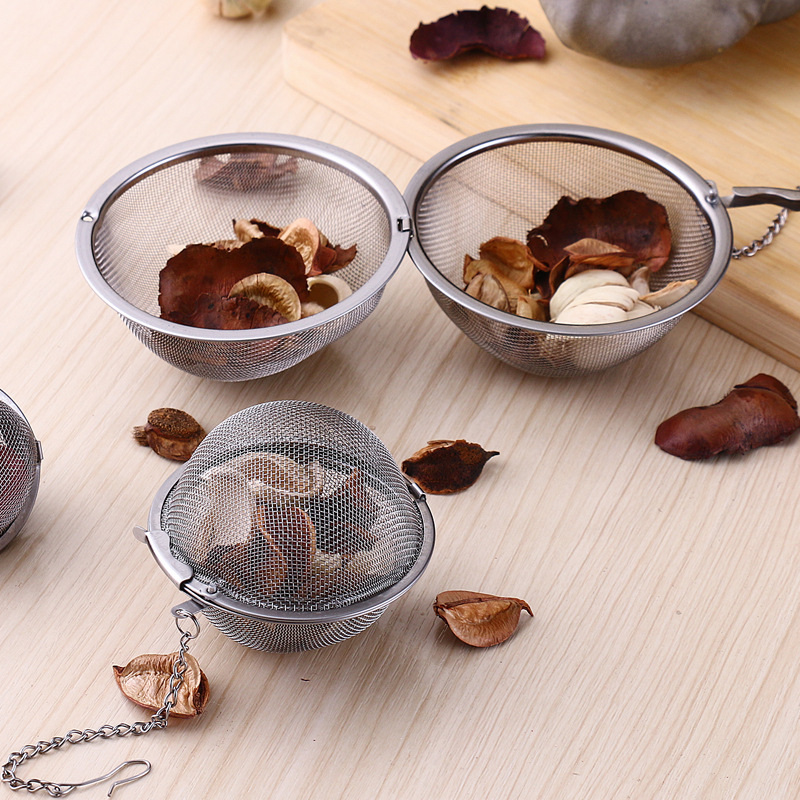 Stainless Steel Locking Spice Mesh Ball Tea Strainer Infuser Filter Herb Spice Diffuser Health Care Products Flowers Tea Tools