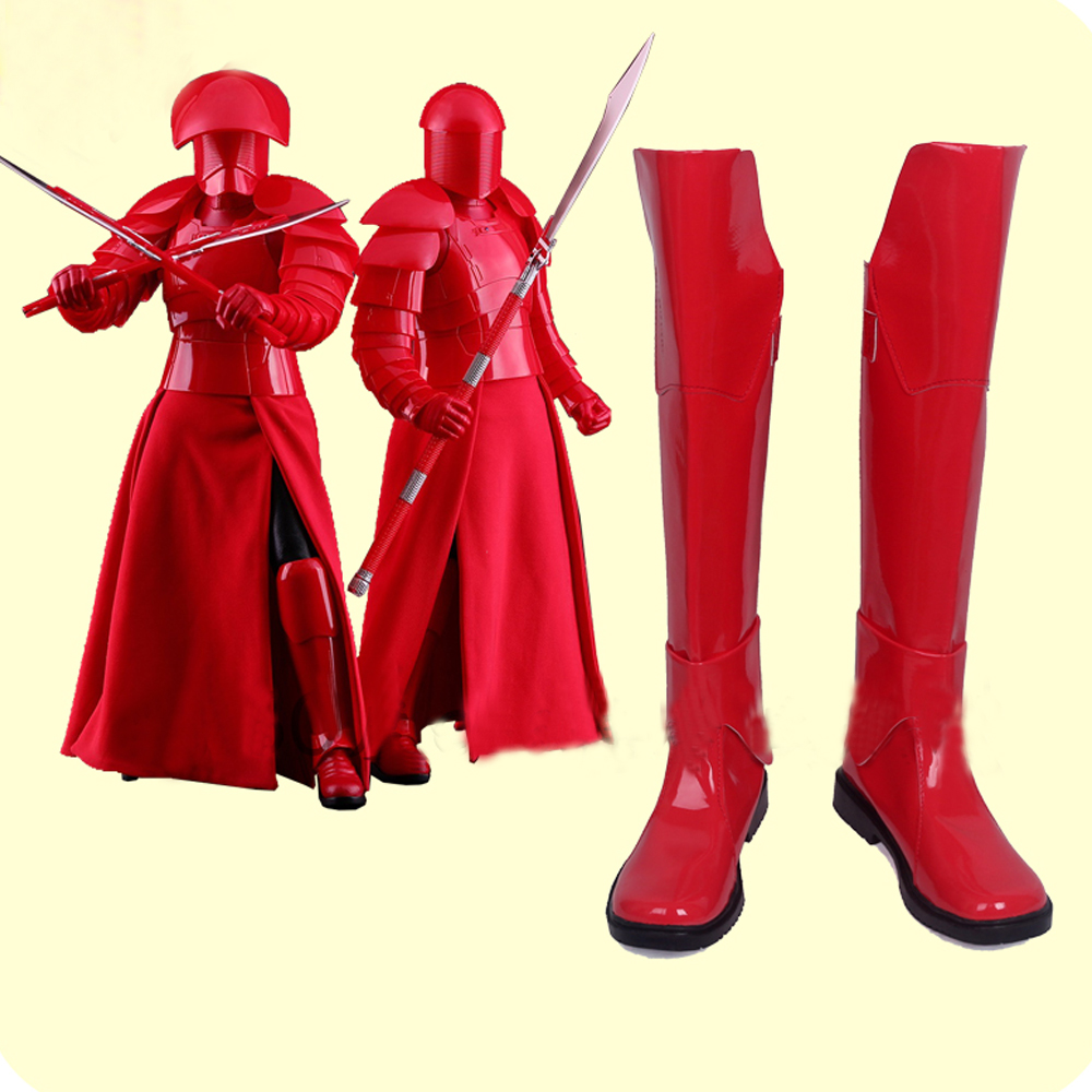 Star Wars: The Last Jedi Praetorian Guard Cosplay Shoes Boots Superhero Halloween Carnival Party Costume Accessories