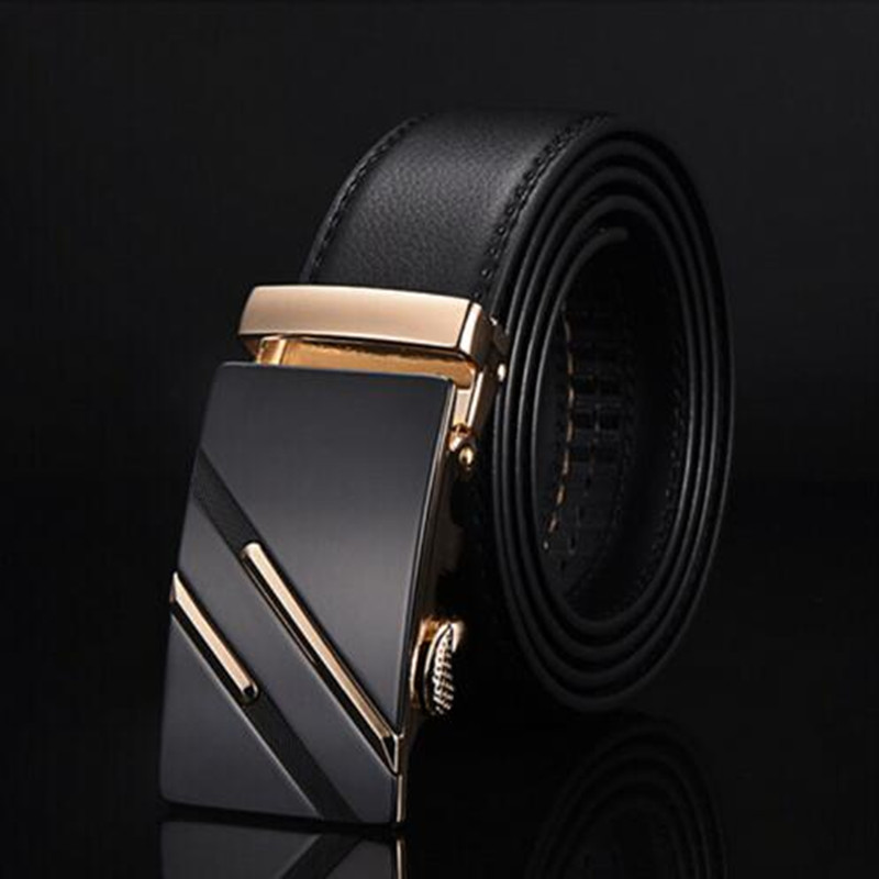 2019 Famous Brand   Belt   Men Genuine Luxury Leather Men's business   Belts   for Men,Strap Male Metal Automatic Buckle