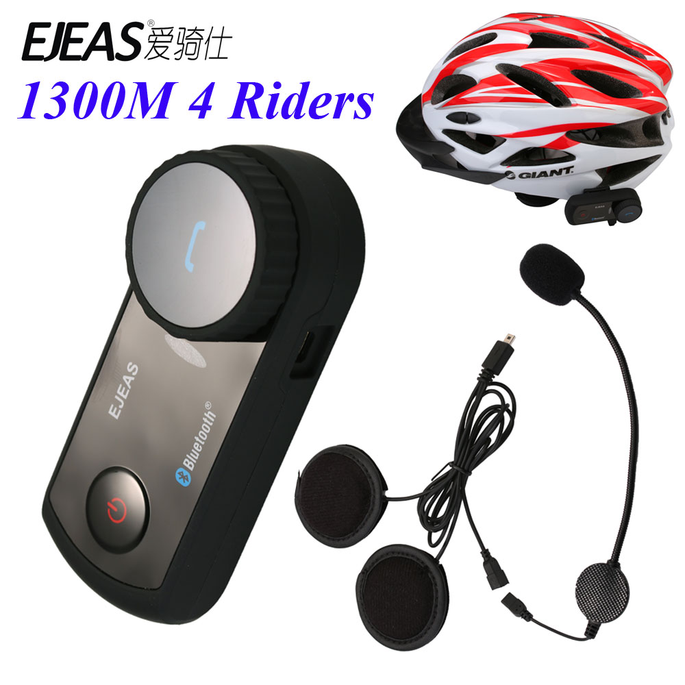 ФОТО Ejeas New Brand 1300M Motorcycle Bluetooth Helmet Intercom for 4 Riders BT Wireless Interphone Headsets Bike Helmet Intercom