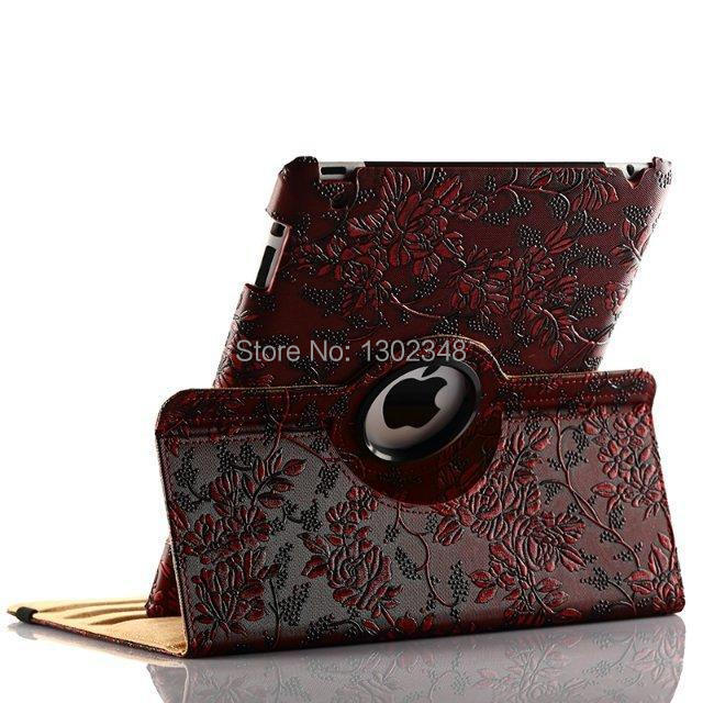 360 Degree Rotating Grape Grain Pattern PU Leather Case For Apple iPad Mini iPad 2 3 4 iPad Air 5 Luxury Smart Cover Stand Flip for apple ipad mini 4 case flip grape patterns pu leather protective cover rotate tablet pc stand shock resistant coque para