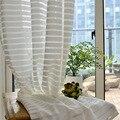 Американская белая фатиновая занавеска в полоску для окна  для гостиной  прозрачная занавеска из мягкой вуали для спальни  детская занавеск...