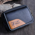 Double Zipper Waist Bag Good Quality Pu Leather Casual Men Fanny Pack Bag Waist Bags Black Brown Coin Purse Wallet