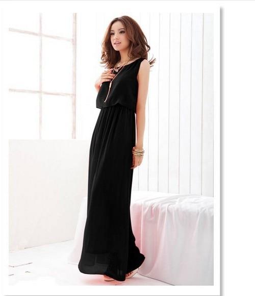 бесплатная доставка модное платье милый платье-макси женская изящные шифон пляжное платье чешский стиль размер