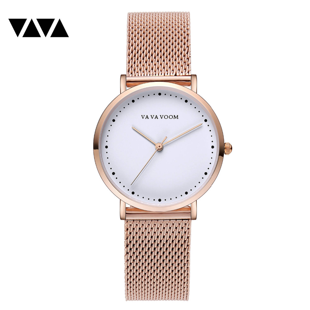 San Francisco 82e69 8e4c2 2019 new rose gold net stainless steel mesh minimalist leisure luxury dw  ladies king hoon bracelet watch for women montre femme