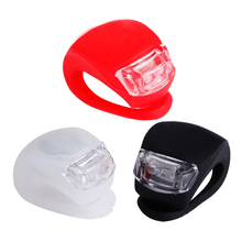 Фотография 2pcs/set Black/White/Red Bicycle Lights Super Silicone LED Bike Light Multi-purpose Water Resistant Headlight With Batterie