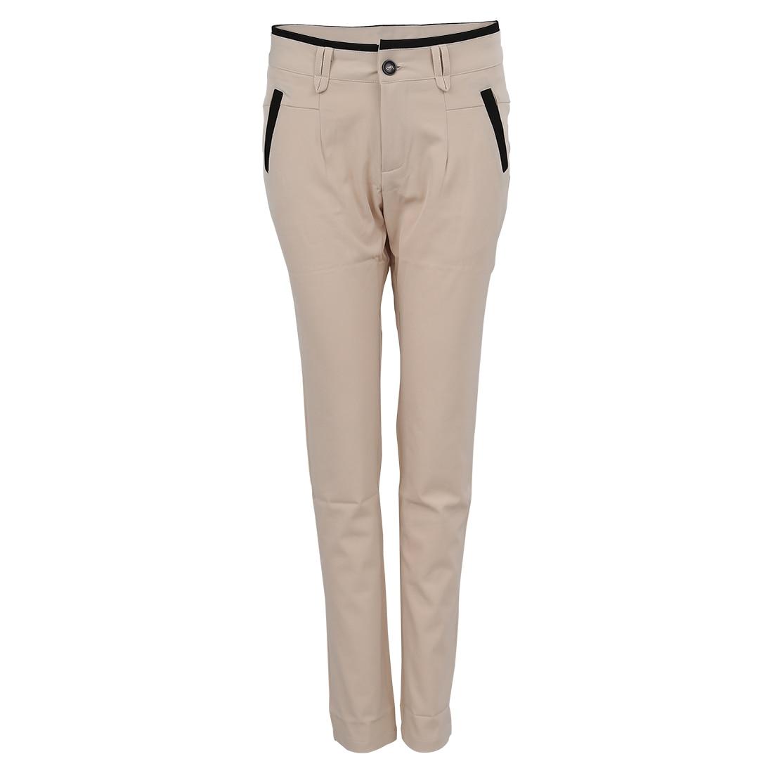 Celana Kasual Ol Pensil Wanita Panjang Ramping Dengan Sabuk Khaki