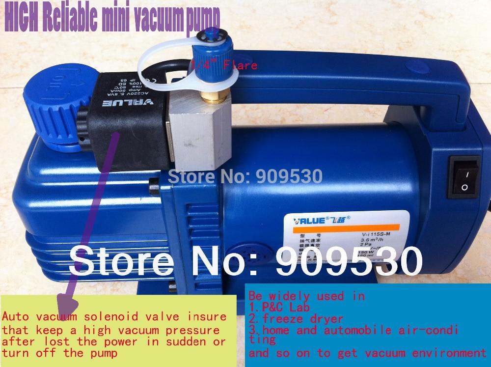 Подробнее о New High reliable Hvac rotary-vane vacuum pump V-I115S-M  220V 150W Suitable for R410A R134A R22 R407C R12 new 110v 60hz high reliable hvac rotary vane vacuum pump tw 1m suitable for r410a r134a r22 r407c r12