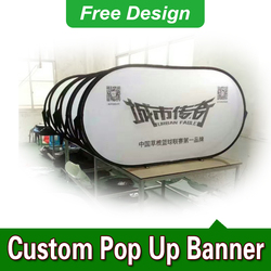 Free Design Free Shipping Vertical Top Banner Frame Custom Pop Up Banners A Frame Banner Stand