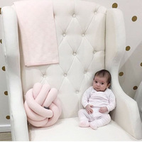 Europe Baby Lovely Cartoon Knot Ball Cushion Children Sleeping Pillow Stuffed Toys For Kids Home Seat
