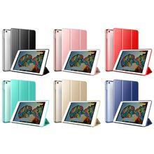 Три раза защитный чехол флип держатель планшета прозрачная задняя крышка водонепроницаемый чехол складной для iPad мини 5 2019