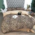Роскошное леопардовое постельное белье из 100% хлопка с цветочным принтом  постельное белье с узором из листьев  набор из 4 предметов