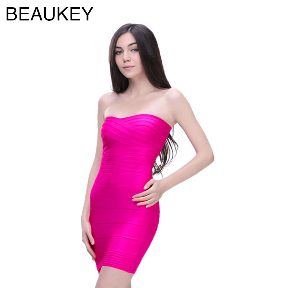 Online Buy Wholesale hot pink strapless dress from China hot pink ...