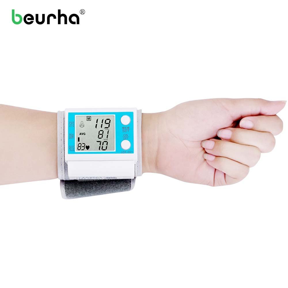 Household Sphygmomamometer Wrist Heart Rate Monitor Blood Pressure Blood Tensiometro Tonometer For Measuring Blood Pressure стоимость